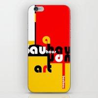 bauhaus iPhone & iPod Skins featuring Bauhaus Lamp by Simona Susnea