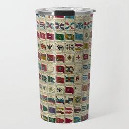 Vintage Naval Flags of The World Illustration Travel Mug
