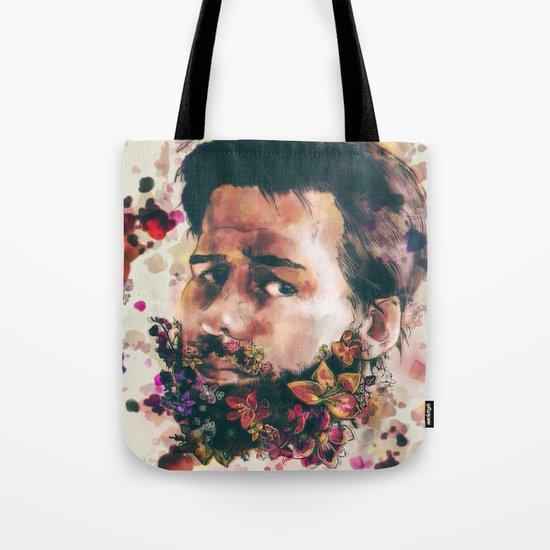 a beard of flowers Tote Bag