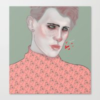 queer Canvas Prints featuring Queer by HudaArt