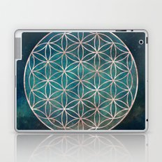 Mandala Flower of Life Rose Gold Space Stars Laptop & iPad Skin