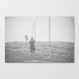 Winter's Crossing Canvas Print