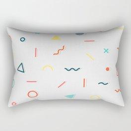 COLORFUL MEMPHIS PATTERN Rectangular Pillow
