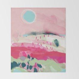 spring dream landscape Throw Blanket