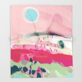 spring dream landscape Throw Blanket
