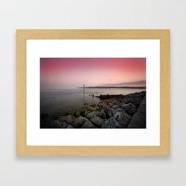 Exmouth evening Framed Art Print
