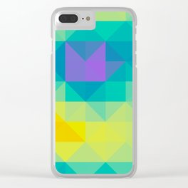 Triangulated grid #2 Clear iPhone Case