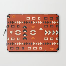 American native shapes in red Laptop Sleeve