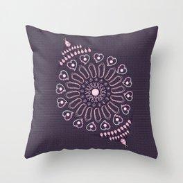 Breast Cancer Survivor Kaleidoscope Art Throw Pillow