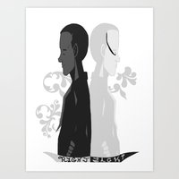 Art Print featuring York and Zach by SurrenderSodas