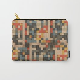 red, blue, and gold blocks Carry-All Pouch