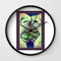 valentines Wall Clocks featuring Valentines by Kaleidoscopic
