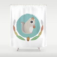 Japanese Flying Squirrel Shower Curtain