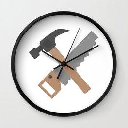Hammer and saw   Wall Clock
