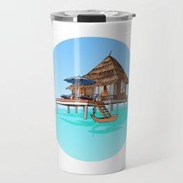 Maldives Hut Travel Mug
