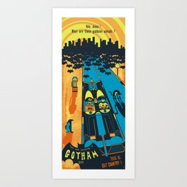 THIS IS BAT COUNTRY (Fear and loathing in Gotham City) Art Print