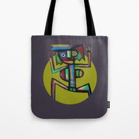 dancer Tote Bags featuring Dancer by Rudolf Brancovsky