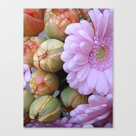 Daisy Loves Tulips Canvas Print