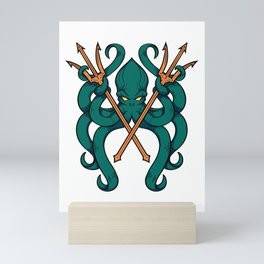 Triton Octopus Mini Art Print
