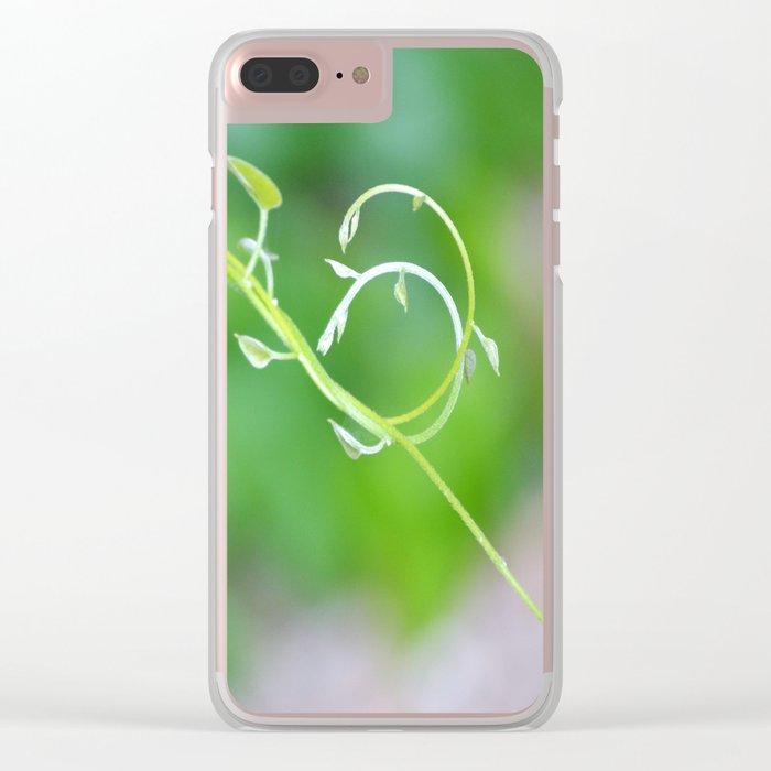 Cute Baby Curlicue Vines Clear iPhone Case
