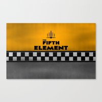fifth element Canvas Prints featuring The Fifth Element by kevonicus