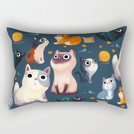Cat Print Rectangular Pillow