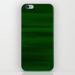 Emerald Green and Black Abstract iPhone Skin