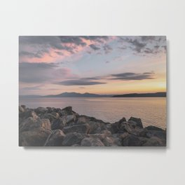 Arran on the rocks Metal Print