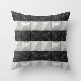 Marble stripes Throw Pillow