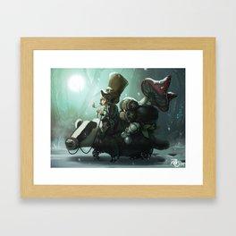 gnomes and badger Framed Art Print