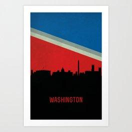 Washington Skyline Art Print