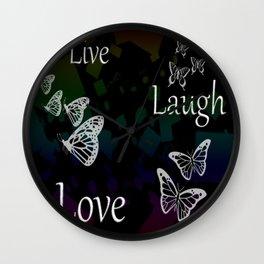 Live Laugh Love Wall Clock