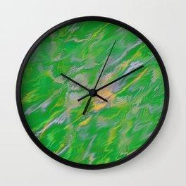 Pearl Green Water Wall Clock