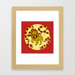 Brave Lion Framed Art Print