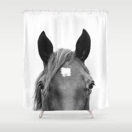 Peeking Horse Shower Curtain
