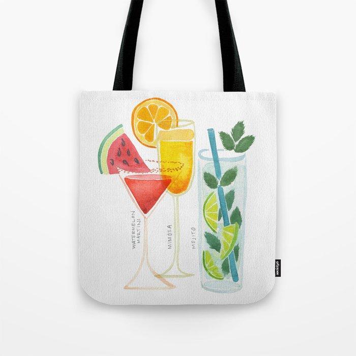 Summer Cocktail Trio Tote Bag