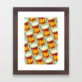 Beer Pattern 2 Framed Art Print