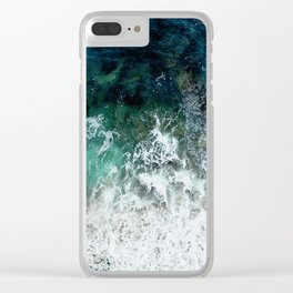 Pacific Ocean Colors Clear iPhone Case