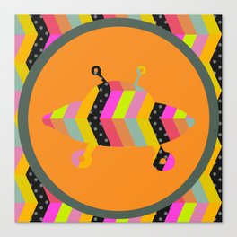 colorful pattern and ufo 1 Canvas Print