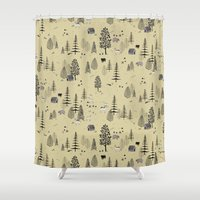 forrest Shower Curtains featuring Forrest Pattern by Mai Ly Degnan