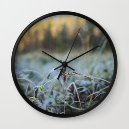Bokeh Grass Wall Clock