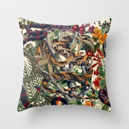 Dangers in the Forest II Throw Pillow