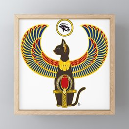 Winged Bast w/Ankh Framed Mini Art Print