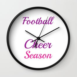 Football What Boys Do During Cheer Season Funny T-shirt Wall Clock