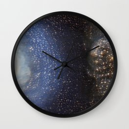 Stargazing into the Night Sky Wall Clock