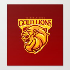 Casterly Rock Gold Lions Canvas Print