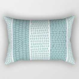 Blue & White Watercolor Pattern Rectangular Pillow