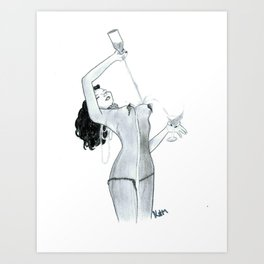 Recreation Of Olivia De Berardinis' The Night They Invented Champagne Art Print
