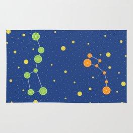 Citrus constellations Rug