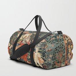 Franco Flemish Allegorical 17th Century Tapestry Print Duffle Bag